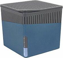 Wenko 50233100 Design Raumentfeuchter Cube 500 g Luftentfeuchter, Fassungsvermögen 0.8 L, 13 x 13 x 13 cm, blau