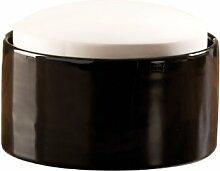 WENKO 52590100 Luftbefeuchter Flat Top - kleiner Keramik-Verdunster, Keramik, 9 x 6.5 x 9 cm, Weiß