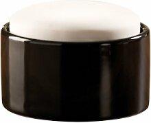 Wenko 52591100 Luftbefeuchter Flat Top - großer Keramik-Verdunster, Ø 12 x 8.5 cm, weiß-schwarz