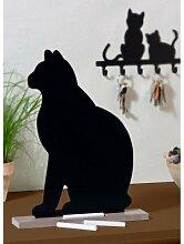 Wenko 77061900  Memotafel Katzeinklusivive 6 Kreidestücken, MDF, schwarz, 5 x 26 x 33 cm