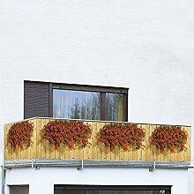 WENKO Balkon-Foto-Sichtschutz, Geranien