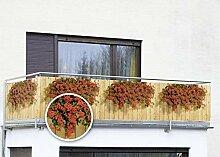 WENKO Balkonumspannung Sichtschutz Geranien
