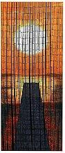 WENKO Bambusvorhang Sonnenuntergang, Bambus, 90 x
