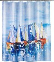 WENKO Duschvorhang Sailing, Breite 180 cm, Höhe
