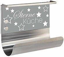 Wenko Edelstahl Küchenrollen-Halter Sterneküche,