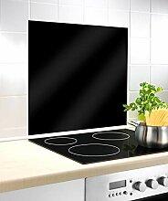 WENKO Glasrückwand Schwarz 60 x 70 cm -