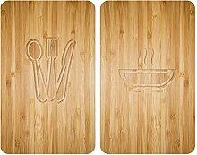 Wenko Herdabdeckplatte Universal Lunch 2er Set,