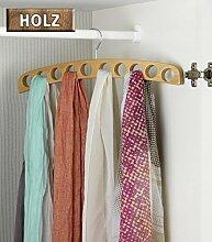 WENKO Holz Kleiderbügel für Schals und Tücher - Ahorn Bügel - 42 x 13 x 1,5 cm