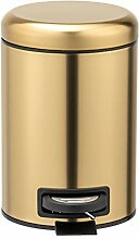 WENKO Kosmetik Treteimer Leman Gold matt 3 L -