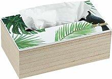 WENKO Kosmetiktuch-Box Tucan Tissuebox, MDF, 24 x