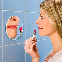 Wenko Vergrößerungs-Kosmetik-Wandspiegel - 300%, Kunststoff, Glas, Ø 12 cm Spiegel, Ø 12 x 0.5 cm