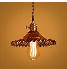 WENL Antikes Glas Lampenschirm Pendelleuchte