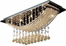 WENL Kronleuchter Kristall Modern LED Deckenlampe