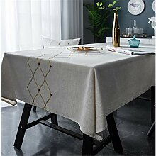 WENXIAOXU Abwaschbar Tischdecke weisendffekt