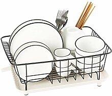 WENYAO Küchenregal Geschirrkorb Edelstahl