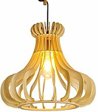 WENYAO Nordic Lighting Massivholz Kronleuchter