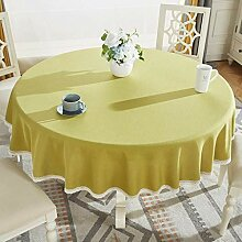 WENYAO Round Table Cloth Home Modern, Tischdecke