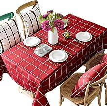 WENYAO Tischdecke - Home Waterproof Plaid