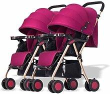 WENYAO Twin-Kinderwagen, abnehmbare Kombination,