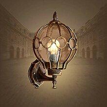 WENYAO Wandleuchte Europäische LED Villa Garden