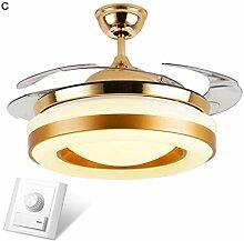 WENYAO Wohnzimmer Deckenventilator Lampe Led