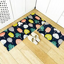 WENZHE-Bereich Teppiche Küche Teppich Küchenteppich Küchenmatten Türmatte Badetür Rutschfest Wasseraufnahme Ölbeständig Waschmaschinenfest Dick Und Weich, 6 Arten Von Spezifikationen ( Farbe : A , größe : 50*80cm+45*120cm )