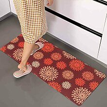 WENZHE-Bereich Teppiche Küche Teppich Küchenteppich Küchenmatten Rutschfest Wasseraufnahme Ölbeständig Waschmaschinenfest Gummiboden, 50 * 120 * 0.4cm ( Farbe : A )