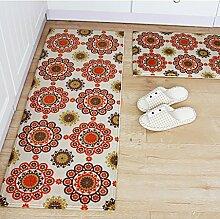 WENZHE-Bereich Teppiche Küchen-Matte Teppich-Bereich Teppiche Boden Fußmatten Bad-Tür Anti-Rutsch-Wasser-Absorption Öl-proof Maschine waschbar Dick und weich, 6 Arten von Spezifikationen ( Farbe : E , größe : 50*80cm+45*120cm )