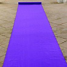 WENZHE-Bereich Teppiche Teppich Einweg Hochzeitsteppich Event Teppich Hochzeit Eventfeier Lila Serie (mit Weiß) Non-Woven-Gewebe, 1m * 20m * 0,5mm ( Farbe : Violet )