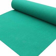 WENZHE-Bereich Teppiche Teppich Einweg Hochzeitsteppich Event Teppich Eventfeier Stufe Dick 2,5mm,4 Farben 4 Breiten,Länge Kann Angepasst Werden ( Farbe : Grün , größe : 2m*30m )
