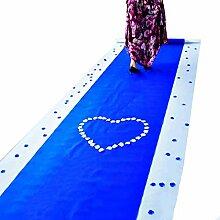 WENZHE-Bereich Teppiche Teppich Einweg Hochzeitsteppich Event Teppich Das Neue Hochzeit Eventfeier Königsblau Non-Woven-Gewebe, Dicke 0,5mm, Breite 1m, Länge 20 / 50m ( größe : 1*20m )