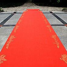 WENZHE-Bereich Teppiche Teppich Einweg Hochzeitsteppich Event Teppich Longfeng-Druck Hochzeit Rot Vliesstoffe Dick 0,3 Mm, Breite 1m, Lange 10/20 / 50m ( größe : 1*50m )