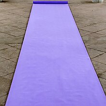 WENZHE-Bereich Teppiche Teppich Einweg Hochzeitsteppich Event Teppich Hochzeit Eventfeier Lila Serie (mit Weiß) Non-Woven-Gewebe, 1m * 20m * 0,5mm ( Farbe : Licht violett )
