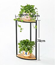 wenzhe Blume Ständer American Massivholz Boden Blumentopf Regal Ecke Blume Rack Ständer Blumentopf für Balkon Wohnzimmer Flower Pot Rack Plant Regal, 30*30*78cm