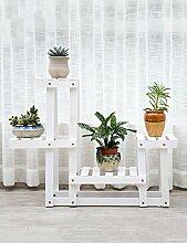 WENZHE Blumenständer Blumentopf Regal Blumengestell Anlagenstand europäischer Stil Balkon Wohnzimmer Blumenständer ( Farbe : B , größe : 62cm*25cm*63cm )