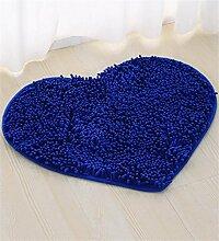 WENZHE Chenille Nettes Herz - geformtes rutschfestes Mattenauflage-Badezimmer-Saugnapf-Hochzeits-Tür-Matten Bereich Teppich ( Farbe : I )
