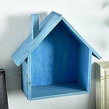 WENZHE Cube Regal Wandregal Schweberegale Storage Racks Woody Kleines Haus Schlafzimmer Wohnzimmer Zuhause Zubehör Multifunktion, 6 Farben, 18.5 * 8.5 * 23.5cm ( Farbe : Blau )