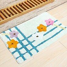 WENZHE ditan Absorbent Anti - Skid Wattepad Teppich, Fußmatte, Wohnzimmer, Bad, Bodenmatte Bereich Teppich ( Farbe : K , größe : 40*60cm )