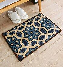 WENZHE ditan Anti - Rutsch - Absorbent Home Leinen Teppich Pad, Door Mat, Bad, Küche, Schlafzimmer Mat Bereich Teppich ( Farbe : N , größe : 45*120cm )