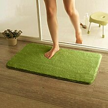 WENZHE ditan Anti-Rutsch-Matten, Bad-Matte, grüner Teppich, Teppich Pad Bereich Teppich ( Farbe : A3.0cm , größe : 0.5*1.6m )