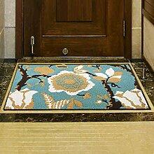WENZHE ditan Einfache Europäischen Anti-Rutsch-Teppich-Pad, Fußmatte, Eingangsmatte, Küche, Schlafzimmer, Nacht Teppich, 45 * 180cm Bereich Teppich ( Farbe : A , größe : 80*110cm )