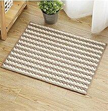 WENZHE ditan European Blended Teppich Verschleißfest Verdickte Matte Anti-Rutsch-Absorbent Teppich Home Badezimmer Teppich Bereich Teppich ( Farbe : Weiß , größe : 45*60cm )