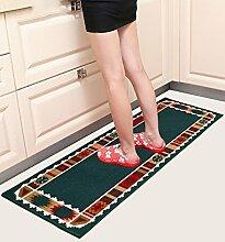 WENZHE ditan European Style Küche Fußmatten Lange Badezimmer Wasserdichte Anti - Rutsch Tür Matten Nachttisch Teppich Bereich Teppich ( größe : 50*120cm )