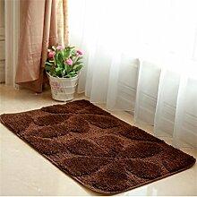 WENZHE ditan Home Schlafzimmer Türmatte Verschleißfeste rutschfeste wasserabsorbierende Bodenmatte Bereich Teppich ( Farbe : Braun , größe : 40*60cm )