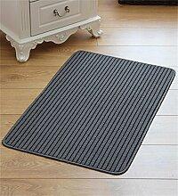 WENZHE ditan Leinen-Türmatte Küche Anti-Rutsch-Wasser Saugfähiger Boden Matte Fußteppich Bereich Teppich ( Farbe : A , größe : 60*90M )