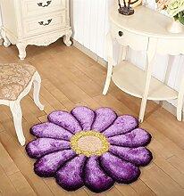 WENZHE ditan Netter Bedside Stereo Blumen-Teppich, netter Bedside ringsum Teppich, Hochzeits-Raum-Kissen-Computer-Kissen-Wohnzimmer-Schlafzimmer, Fußboden-Auflage, 6 Farben-Wahlen Bereich Teppich ( Farbe : 1 , größe : 1.2*1.2m )