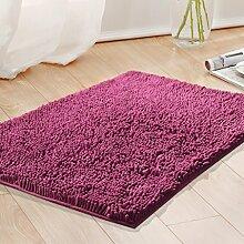 WENZHE ditan Teppich Schlafzimmer Küche Badezimmer Anti-Rutsch wasserdichte Fußmatten Fußteppich Bereich Teppich ( Farbe : F , größe : 50*80CM )