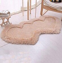 WENZHE ditan Verdickte Herzförmiges Teppich-Verbind Schlafzimmer Wohnzimmer Couchtisch Bettvorleger, Matten, 6 Farboptionen Bereich Teppich ( Farbe : C , größe : 0.8*1.6m )