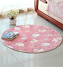 WENZHE Einfache runde rutschfeste Computer Stuhl Matte Schlafzimmer Nachttisch Matte Teppich Bereich Teppich ( Farbe : C , größe : 0.9*0.9M )