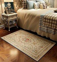 WENZHE Europäische Chenille-rechteckige Hauptboden-Tür-Matten-Teppiche Rutschfeste Fuß-Auflage Bereich Teppich ( Farbe : J , größe : 40*60cm )